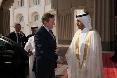 Taoiseach Qatar Prime Minister big photo