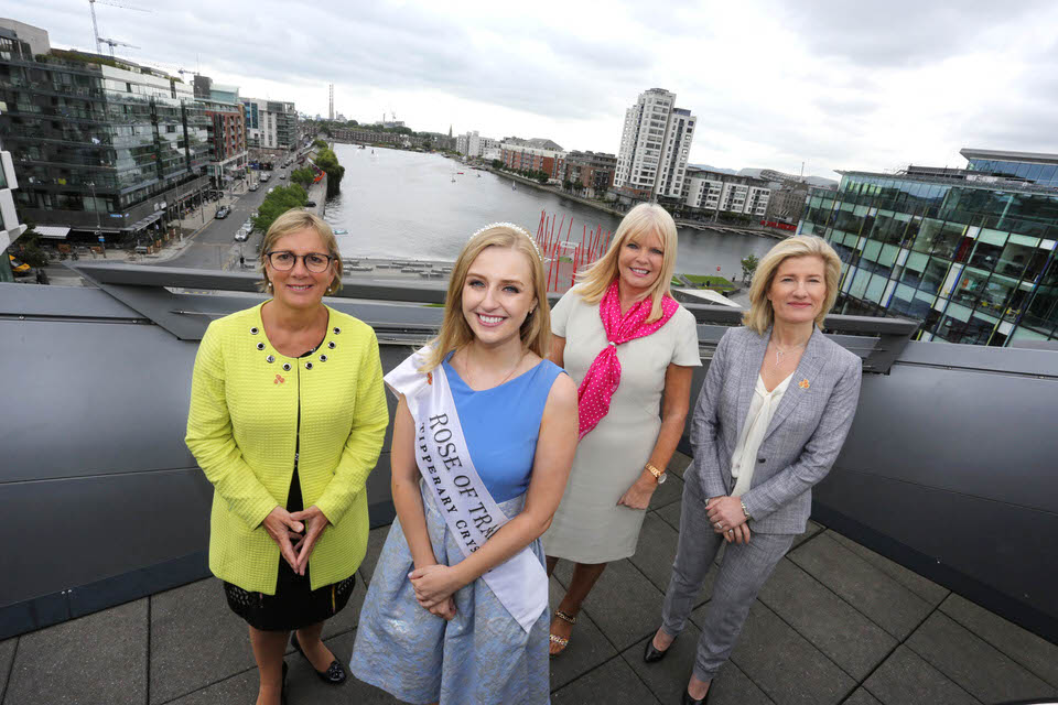 Julie Sinnamon, CEO, Enterprise Ireland, the Rose of Tralee, Elysha Brennan, the Minister for Jobs, Enterprise and Innovation, Mary Mitchell O'Connor and Head of Business Banking at AIB, Catherine Moroney.
