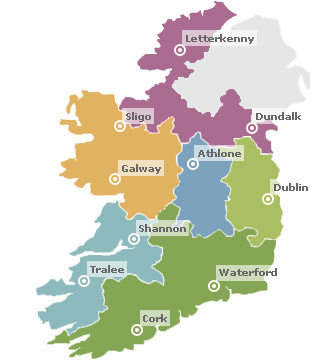 Regional Map Of Ireland.Our Locations Ireland Enterprise Ireland
