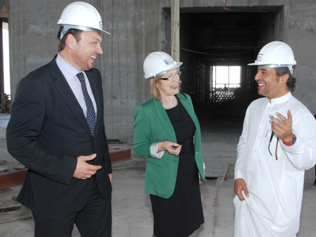 Pictured at the announcement at the HQ Building in Jeddah, Saudi Arabia are (L-R): Tom Marren, Managing Director of CES Energy, Minister for Trade and Development, Jan O'Sullivan, TD, and Essam Fahiek, CEO of Adeem Al Wataniya Group.