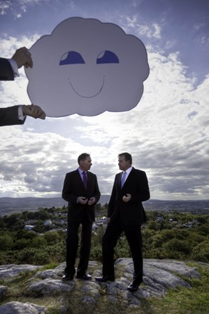 Pictured are Michael O'Hara, managing director of Data Solutions  and Gerry Murray, chief executive officer, Fort Technologies