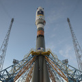 Europe's first Galileo navigation satellites on board Russia's first Soyuz rocket ready for lift-off from Europe's Spaceport