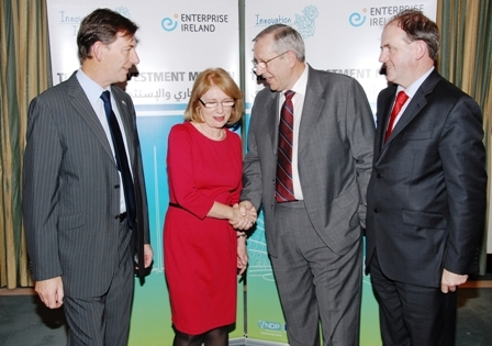 Pictured at the announcement are (L-R) are: David Kiely, Jennings O'Donovan, Minister for Trade and Development Jan O'Sullivan TD, Vivion Archbold, Jennings O'Donovan and Frank Ryan, Enterprise Ireland