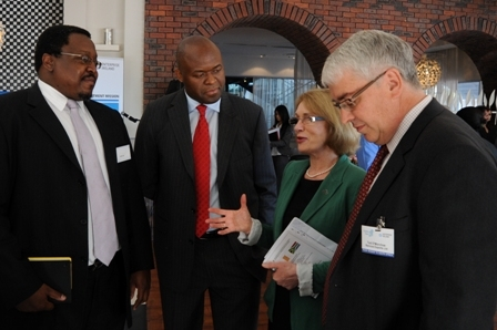 Mr Loyiso Jiya, Mr Misabeni Khosa, MK Associates, Minister Jan O'Sullivan TD and Mr Ted O'Morchoe, Bannow Exports