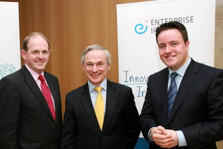 Pictured are (l-r): Frank Ryan Enterprise Ireland, Minister Richard Bruton, Alan Foy Blueface.