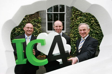 Gerard Lande, Senior Commercialisation Specialist, Enterprise Ireland, Dr Theo Lynn, Prinicipal Investigator, DCU and Minister for Jobs Enterprise and Innovation, Richard Bruton, TD, pictured at the launch of the Enterprise Ireland and IDA Ireland Cloud Computing Technology Centre at Dublin City University.