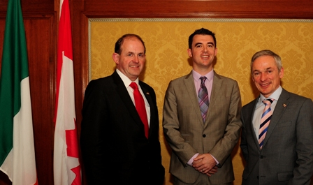 Pictured on a trade mission to Canada are (l-r): Frank Ryan, CEO Enterprise Ireland, Simon Walsh, Lincor and Minster Richard Bruton T.D.