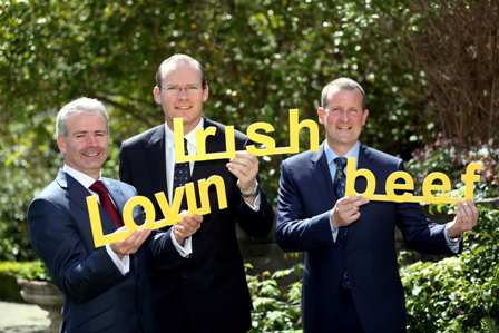 Pictured at the announcement are (l-r): Adrian Crean, Managing Director of McDonald's Ireland, Simon Coveney, Minister for Agriculture, Food and the Marine, and Niall Brown, Group CEO of Dawn Meats Group