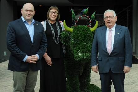 L-R  Ian Dodson, President and CEO Digital Marketing Institute; Dr Carla Ensen, co-founder Vega School of Brand Leadership; Minister for Trade and Development Joe Costello TD.