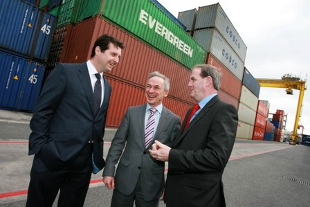 "Pictured at the launch of Enterprise Ireland's new initiative ""Get Export Ready"" was exporter Tomás O'Leary, MD, Origina Ltd, Minister for Jobs, Enterprise and Innovation Richard Bruton T.D and Frank Ryan, CEO Enterprise Ireland."