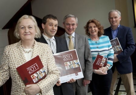 Pictured left to right are Paula Fitzsimons, Report Co-Author and National GEM Coordinator; Colm O'Gorman, Report Co-Author; Richard Bruton TD, Minister for Jobs, Enterprise and Innovation; Kathleen Lynch TD, Minister for Disability, Equality, Mental Health & Older People and John Brophy, Carrig Solutions
