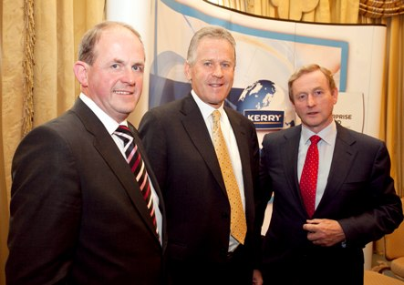 Pictured at Kerry Group's €100m investment and 800 jobs announcement backed by Enterprise Ireland are Frank Ryan, CEO, Enterprise Ireland;   Stan McCarthy, CEO Kerry Group   and An Taoiseach Enda Kenny TD