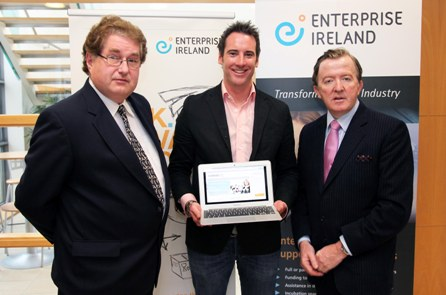 Pictured at the launch are, L to R: Michael Brougham, Enterprise Ireland Director Midlands Region; Richie Loughran, Director, COMSS Ltd, Longford and John Perry TD, Minister for Small Business.