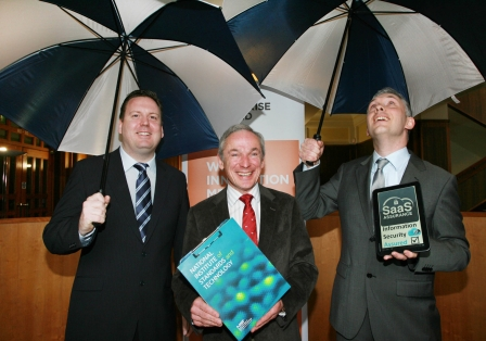 Picured above are left to right: Mark Dunne, 2SaaS,Richard Bruton TD, Minister for Jobs, Enterprise and Innovation and Peter Van den Bossche, 2SaaS
