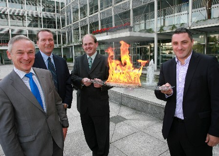 Pictured left-to-right: Richard Bruton TD, Minister for Jobs, Enterprise and Innovation, Terry Frey, Corporate Vice-President, Kroger USA, Frank Ryan, CEO, Enterprise Ireland and Stuart McCready, Country Manager USA, Zip Firelighters