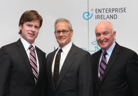 Pictured L to R are Eddie Goodwin, Enterprise Ireland Manager Boston Office, VP Medical Technologies & Pharma, Dr. Arthur Rosenthal, CEO, gEyeCue Medical Systems and Gerry Murphy, Enterprise Ireland Executive Director, North America.