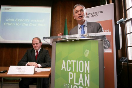 Pictured left-right at the announcement were Frank Ryan, CEO Enterprise Ireland and Richard Bruton T.D., Minister for Jobs, Enterprise and Innovation.