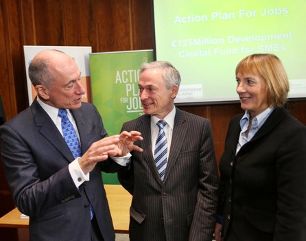 Pictured at the launch were Rory Brooks, Founder Partner, MML Capital, Minister for Jobs, Enterprise and Innovation, Richard Bruton TD and Julie Sinnamon, CEO, Enterprise Ireland.