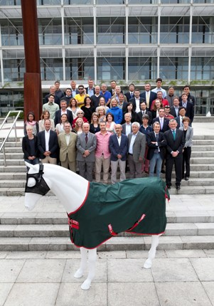 A delegation of 70 international buyers, vets and key industry influencers from 18 countries are in Dublin with Enterprise Ireland today (Thursday, 8 August 2013) to meet Irish suppliers to the equine industry