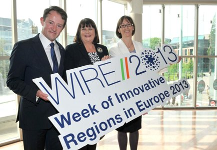 Minister Sherlock, Commissioner Geoghegan Quinn and Dr. Imelda Lampkin at major EU regional development conference WIRE in Cork