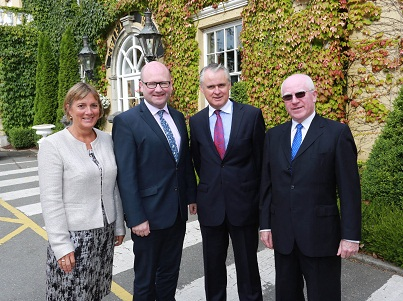 L-R:  Julie Sinnamon, CEO Enterprise Ireland, Ged Nash TD, Minister for Business & Employment, Brian Murphy, CEO, National Development Finance Agency and Michael Hand, CEO, Grangegorman Campus Development