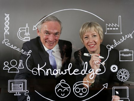 Richard Bruton T.D. Minister for Jobs, Enterprise & Innovation and Dr. Alison Campbell, Director of KTI.