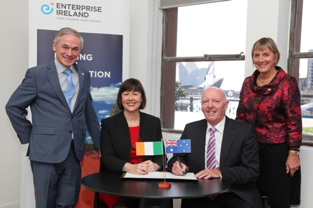 Pictured above, Richard Bruton TD, Ireland's Minister for Jobs, Enterprise and Innovation, Peta Jurd, Head of Hills Health Solutions, Dan Byrne, Chairman and CEO, Lincor Solutions, Julie Sinnamon, CEO, Enterprise Ireland.