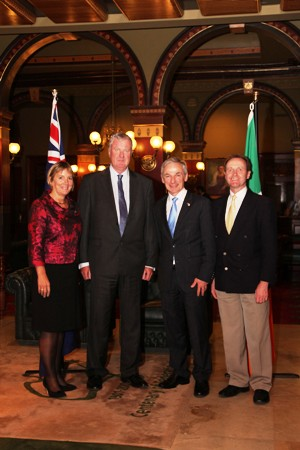 Pictured in Sydney are, L-R: Julie Sinnamon, CEO, Enterprise Ireland; Aiden Callaly, COO, Solgari; Richard Bruton TD, Minister for Jobs, Enterprise and Innovation; Brian O'Doherty, CEO, Novatech Ventures.