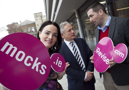 L to R: Pictured at the Start Up Class of 2014 are  Ailish Ryan, Mockness Ltd t/a Mocks.ie, Minister Richard Bruton, Minister for Jobs, Enterprise and Innovation and Eoghan Ryan, Mocks.ie