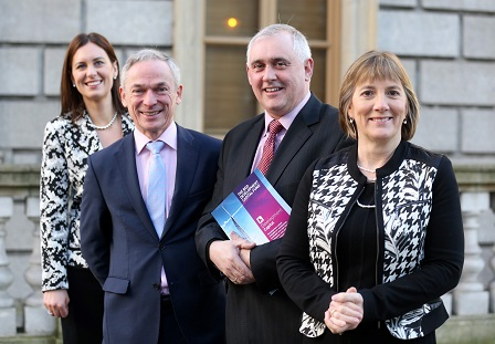 L-R: Sinead Heaney, Investment Director, Development Capital; Minister for Jobs, Enterprise and Innovation Richard Bruton TD; Tom Tierney, COO, Lifes2Good; Julie Sinnamon, CEO Enterprise Ireland