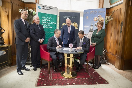 Pictured L-R: Ladislav Muller, Manager EI Prague/Budapest; Conor Fahy, Regional Director, EI; Des O' Mahony, CEO, Bookassist; Minister Ged Nash; Pavel Branzovsky, CEO, Hotel Pariz and Alison Kelly, Ambassador of Ireland