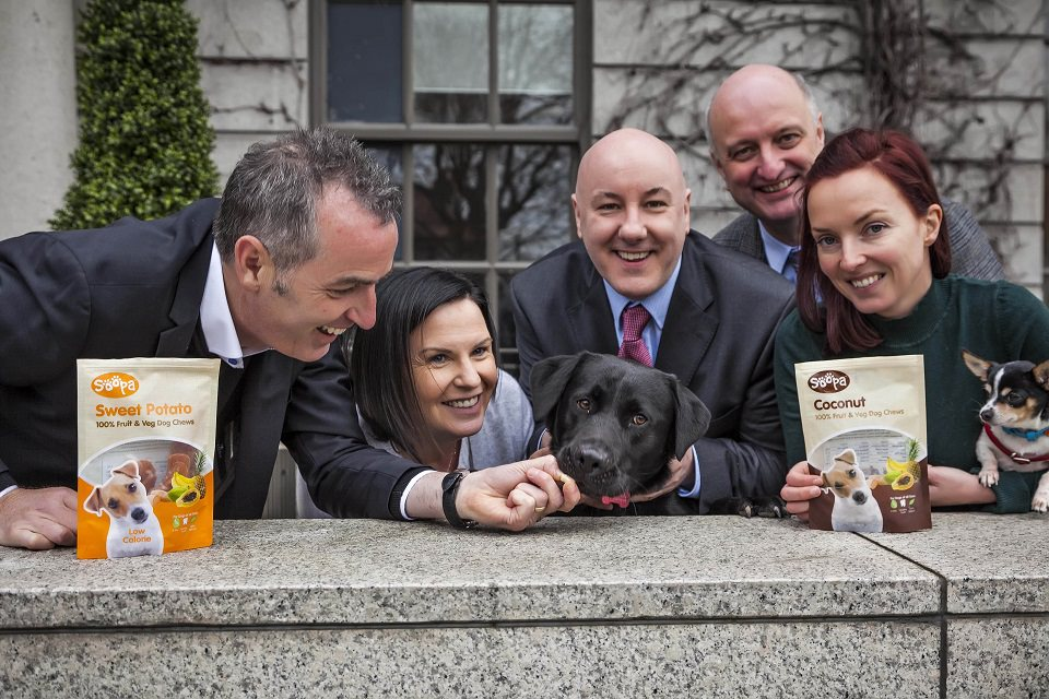 Pictured at today's announcement (L-R) are: Stephen Twaddell, Chair, HBAN Food Syndicate; Orlagh Nolan, HBAN; Colm Healy, Investor, HBAN Food Syndicate; Pat Rigney, Investor, HBAN Food Syndicate; and Barbara Hanly, Founder, Soopa Pets.