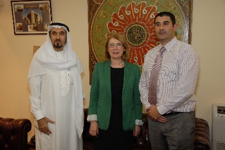 Pictured L to R are:  Sheikh Solaiman El Kheiriji, Chairman of SAK, Minister for Trade and Development, Jan O'Sullivan, TD, and Ian Fewer, Pivotal International, Waterford.