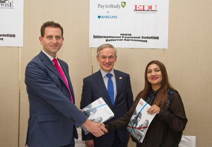 L-R: Terry Clune, MD Taxback Group, Minister for Jobs, Enterprise and Innovation Richard Bruton TD, Sonal Hariyaa, MD, Eduworld